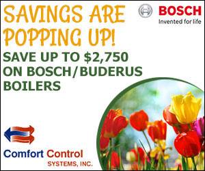 Save on Bosch and Buderus Boilers at Comfort Control Systems in Green Bay, Wisconsin is offering several great offers!