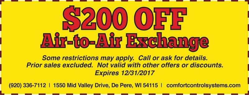 $200 off Air to Air Exchange