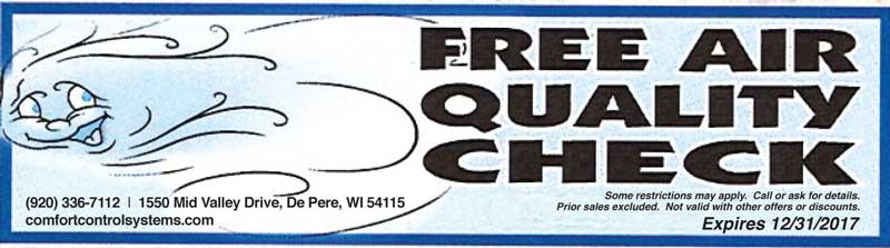 Free Air Quality Check coupon