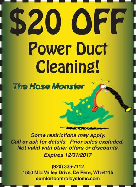 $20 off Power Duct Cleaning Coupon