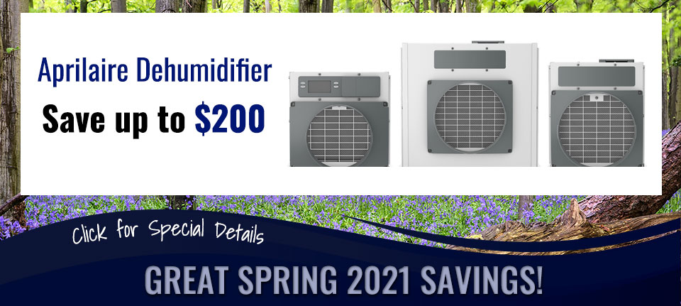 Spring Savings on Aprilaire Dehumidifiers in Green Bay, WI