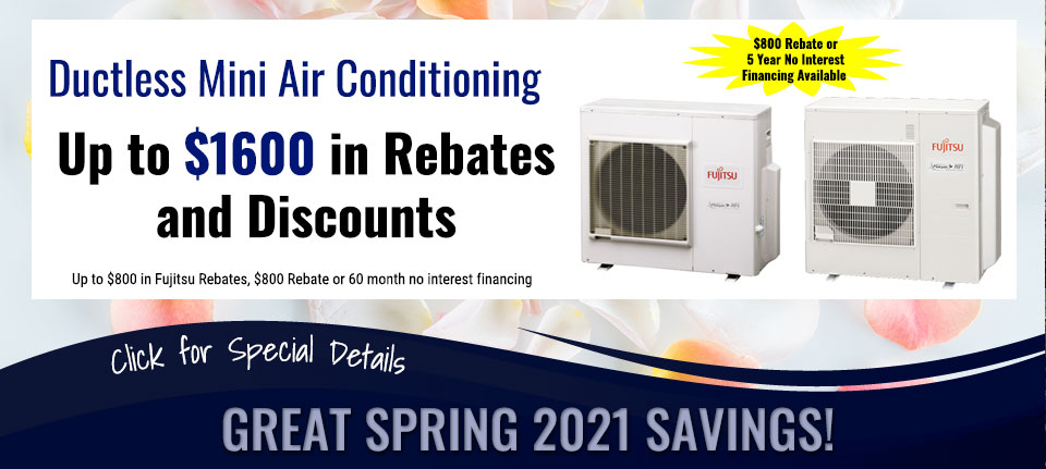 Spring Savings on Ductless Air Conditioning in Green Bay, WI