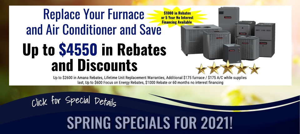 Spring Savings on Furnaces and Air Conditioners in Green Bay, WI