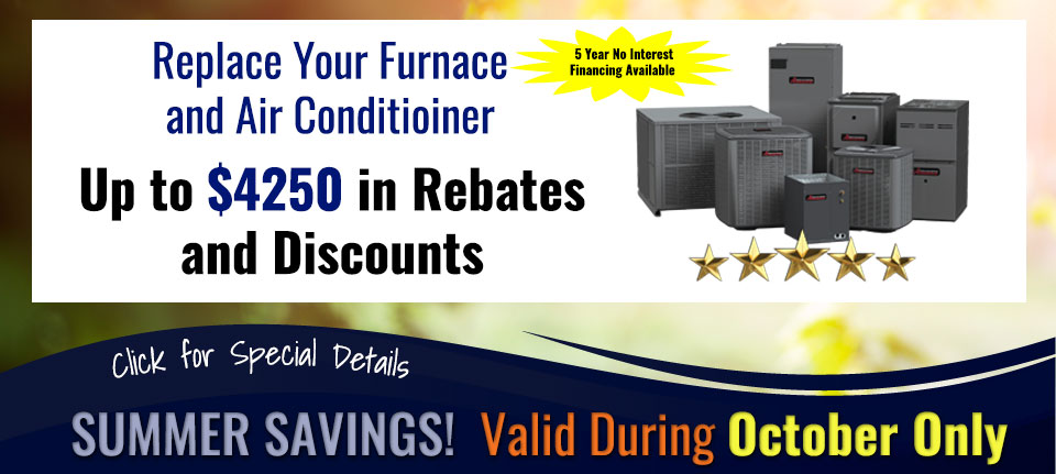 Summer Savings on Furnaces and Air Conditioners in Green Bay, WI
